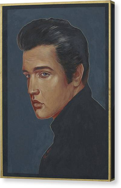 Elvis Presley Canvas Print by Jovana Kolic