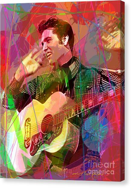 Elvis Rockabilly  Canvas Print