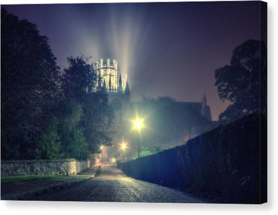 Canvas Print featuring the photograph Ely Cathedral - Night by James Billings