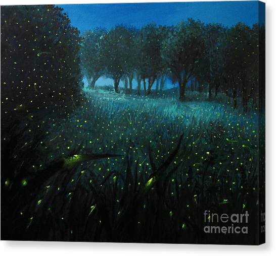 Moonlit Canvas Print - Ember Of Life by Kiril Stanchev