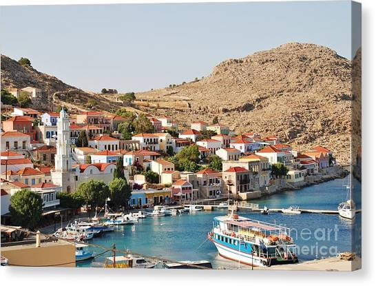 Emborio Village On Halki Canvas Print