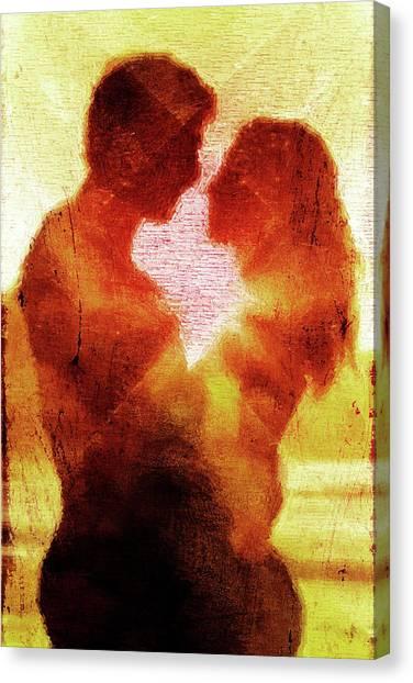 Light Paint Canvas Print - Embrace by Andrea Barbieri