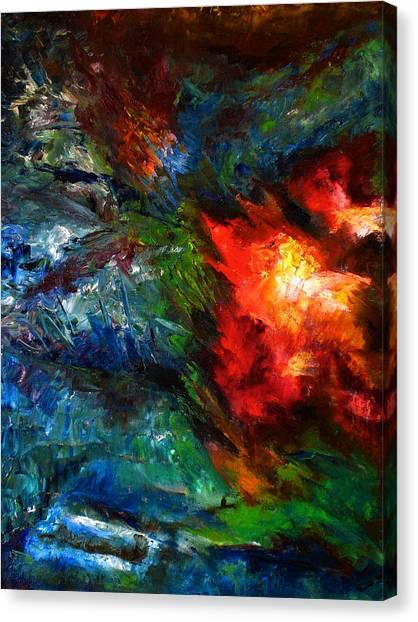Embrace Canvas Print by Lou Ewers