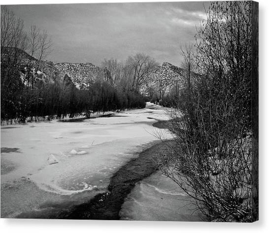 Embudo In Winter Canvas Print
