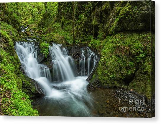 Emeral Falls Waterscape Art By Kaylyn Franks Canvas Print