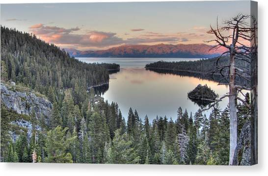 Emerald Bay Colors Canvas Print