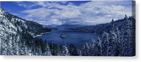 Emerald Bay First Snow Canvas Print