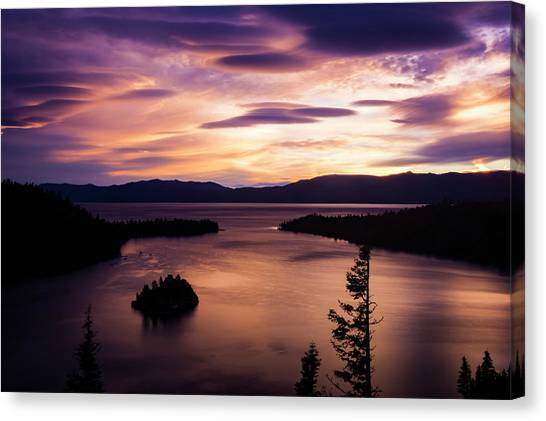 Emerald Bay Sunrise - Lake Tahoe, California Canvas Print