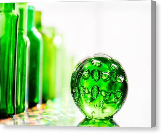 Glass Art Canvas Print - Emerald City Iv by Jon Woodhams