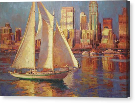 Pacific Coast Canvas Print - Emerald City Twilight by Steve Henderson