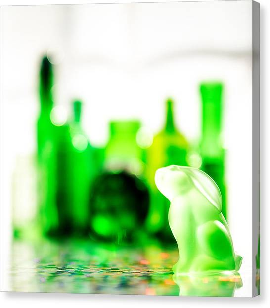 Glass Art Canvas Print - Emerald City V - Square by Jon Woodhams