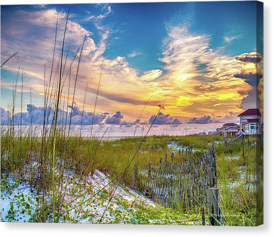 Emerald Coast Sunset Canvas Print