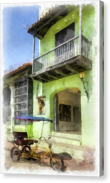 Emerald Entry Canvas Print