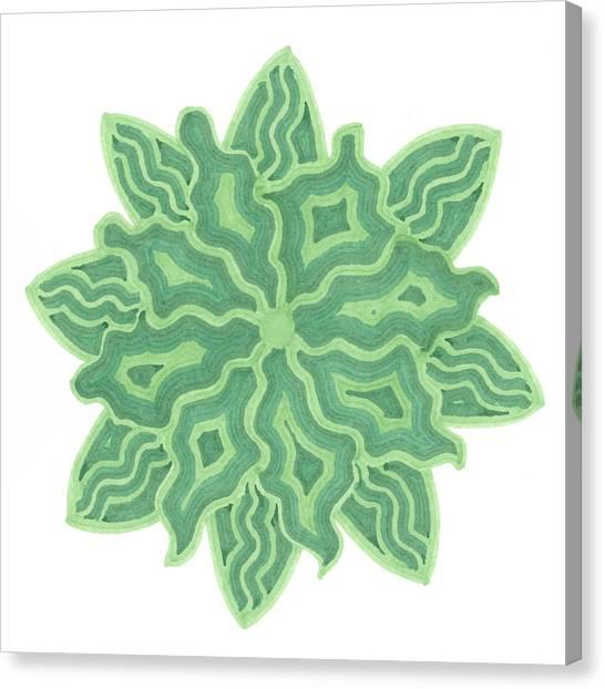 Emerald Flower Canvas Print