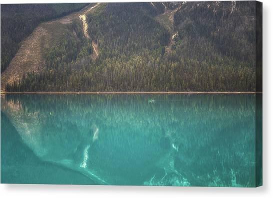 British Columbia Canvas Print - Emerald Lake Boating by Chris Fletcher