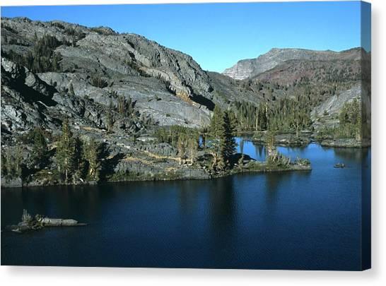 Emerald Lake Island Mountains Canvas Print