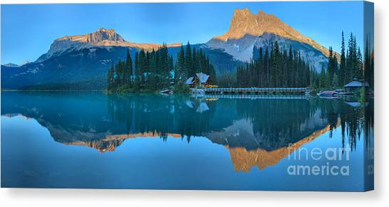 Canada Glacier Canvas Print - Emerald Lake Sunset Panorama by Adam Jewell