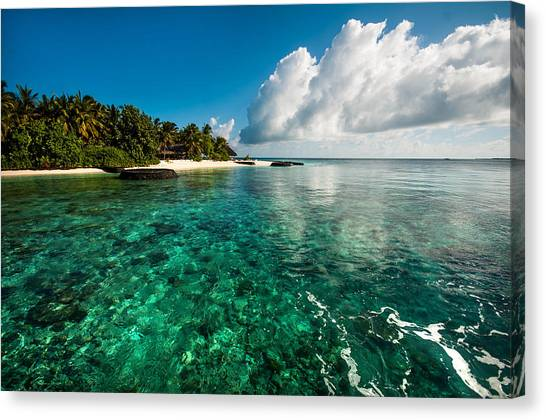Emerald Purity. Maldives Canvas Print
