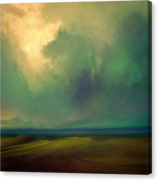 Cloud Canvas Print - Emerald Sky by Lonnie Christopher