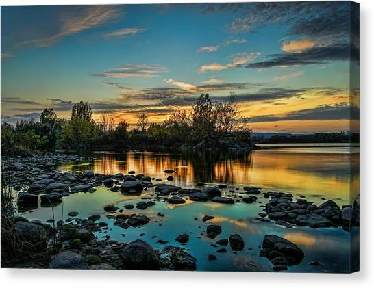 Emerald Sky Reflection Canvas Print