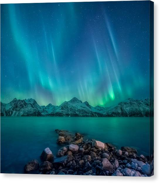 Aurora Borealis Canvas Print - Emerald Sky by Tor-Ivar Naess