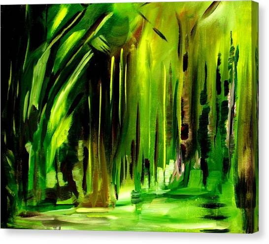Emerald Vision Canvas Print by Ellen Seymour