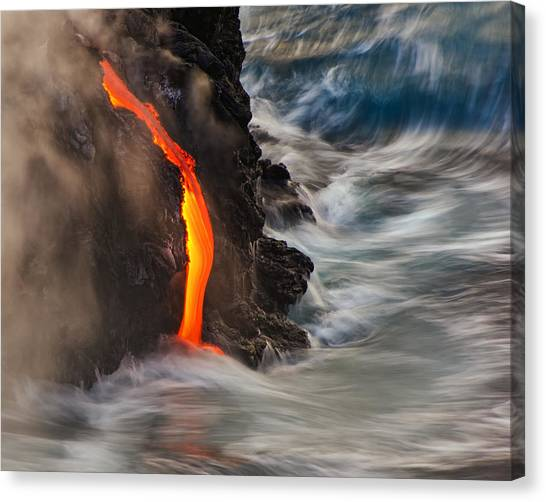 Lava Canvas Print - Emergent by Andrew J. Lee
