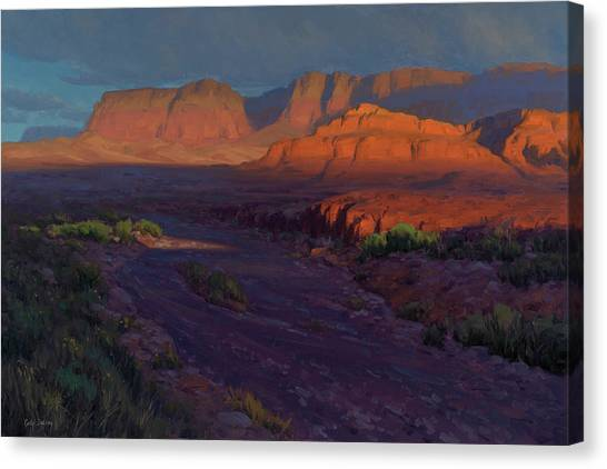 Red Rock Canvas Print - Emerging 24x36 by Cody DeLong