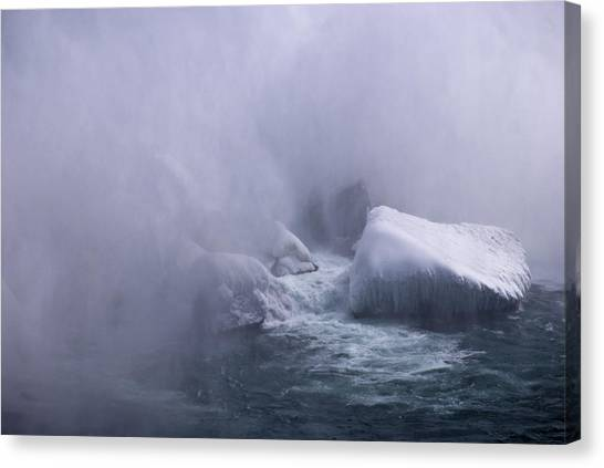 Emerging From The Mist Canvas Print