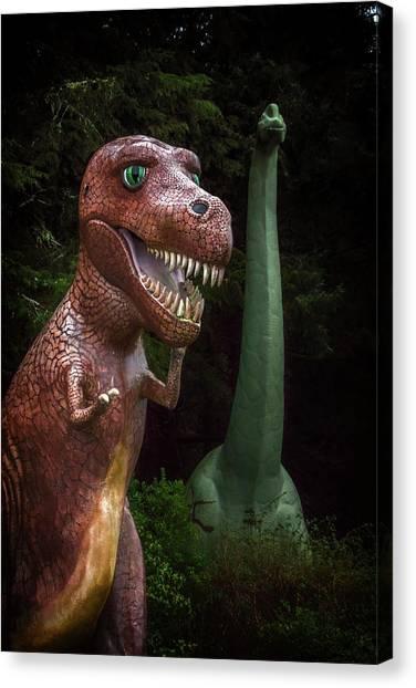 Brachiosaurus Canvas Print - Emerging by Marnie Patchett