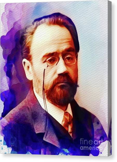 Philosopher Canvas Print - Emile Zola, Literary Legend by John Springfield