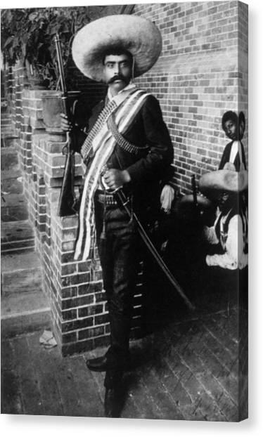 Jt History Canvas Print - Emiliano Zapata Ca. 1879-1919, Mexican by Everett
