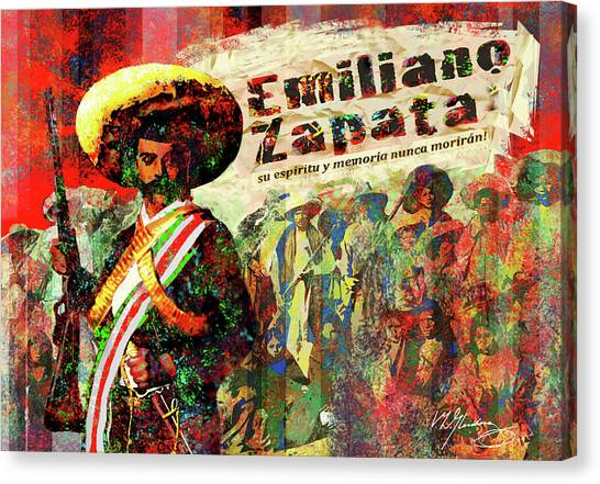 Emiliano Zapata Inmortal Canvas Print