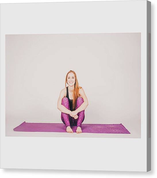 Gym Canvas Print - @emilymsmith49 The Yoga Yogi by David Haskett II