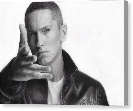 Eminem Canvas Print by Nat Morley