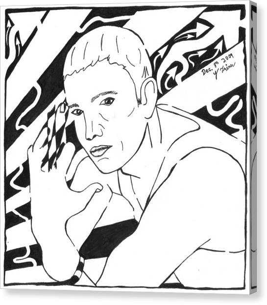 Eminemaze Canvas Print by Yonatan Frimer Maze Artist