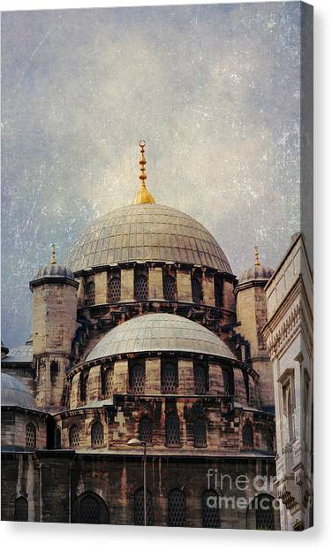 Eminonu New Mosque Canvas Print