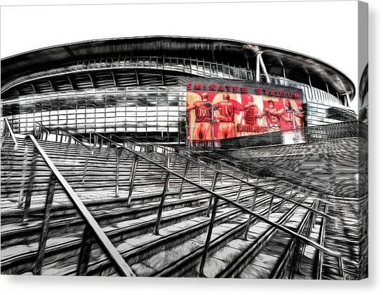 Arsenal Fc Canvas Print - Emirates Stadium London Art by David Pyatt