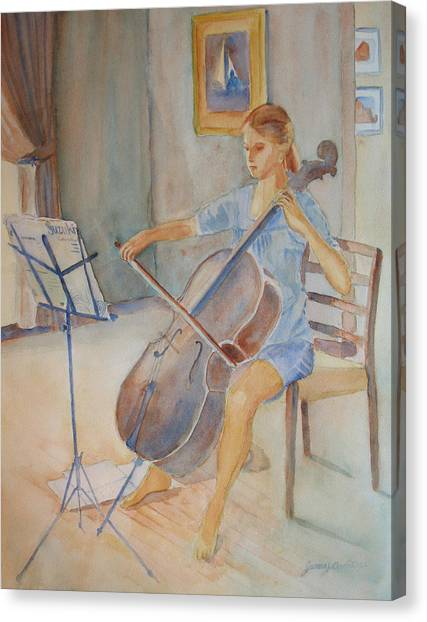 Cellos Canvas Print - Emma And Clifford by Jenny Armitage