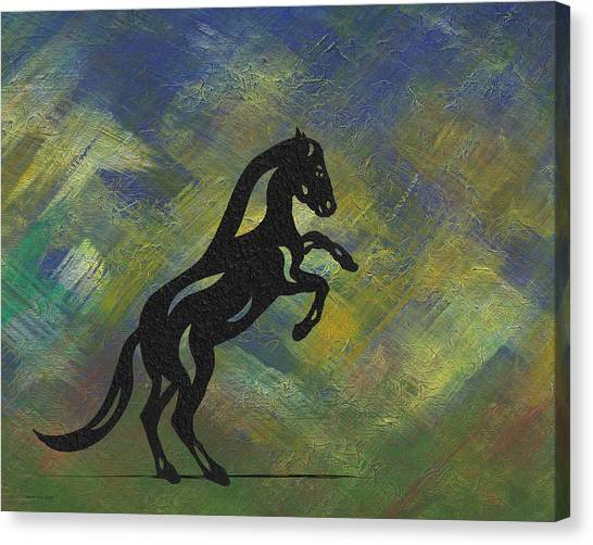 Emma II - Abstract Horse Canvas Print