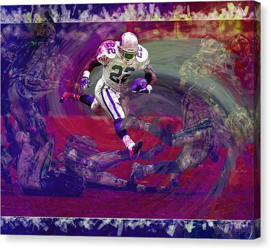 Dallas Cowboys Cheerleaders Canvas Print - Emmitt Smith Dallas Cowboys Digital Painting Art by David Haskett II