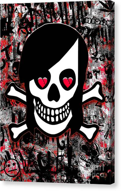 Emo Heart Breaker Canvas Print