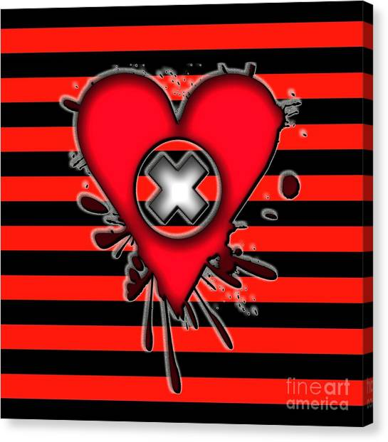 Emo Love Canvas Print