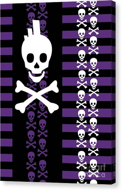 Emo Punk Skull Canvas Print