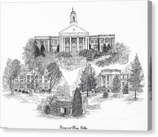 Emory University Canvas Print - Emory And Henry College by Jessica Bryant