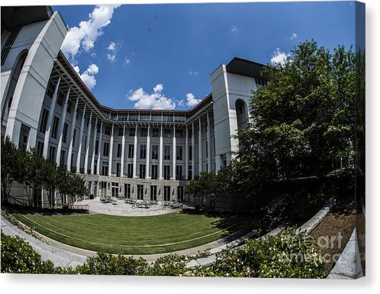 Emory University Canvas Print - Emory University Goizueta School Of Business by David Bearden