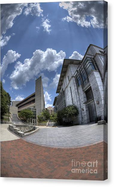 Emory University Canvas Print - Emory University Rollins School Of Public Health by David Bearden