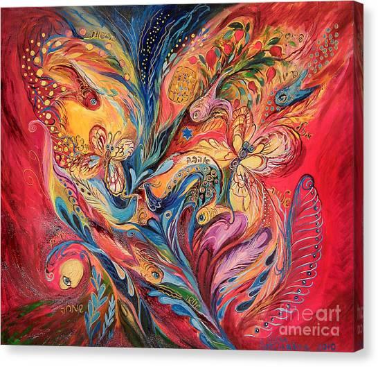 Emotion In Red Canvas Print by Elena Kotliarker