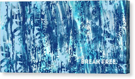 Libertarian Canvas Print - Emotional Art Break Free   by Melanie Viola