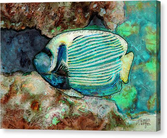 Anglefishes Canvas Print - Emperor Angelfish  by Arline Wagner